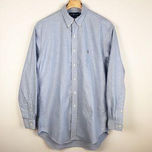 Ralph Lauren Blue Blake Oxford Long Sleeve Shirt M